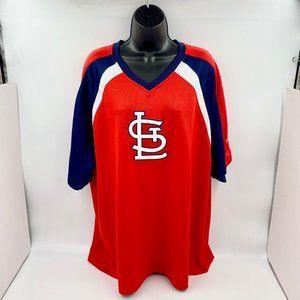 St. Louis Cardinals V-Neck Team Shirt - Genuine MLB Merchandise - Size XL